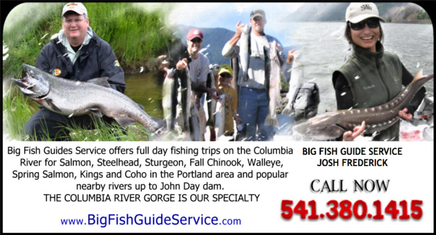 fishing guides for the Columbia River Gorge and mid-Columbia River.